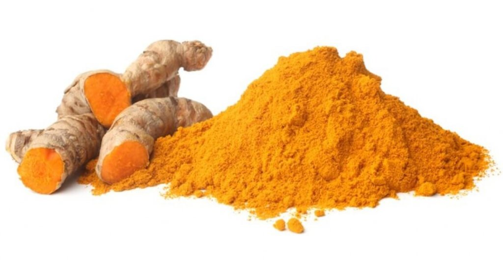 This powdered tumeric contains curcumin